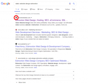 Favicon importance changes in search results